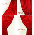 red velvet curtains vector image