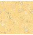 Shells on sand seamless pattern vector image