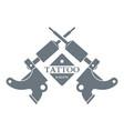 tattoo machine logo simple gray style vector image