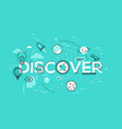 thin line flat design banner for discover web page vector image
