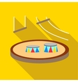 Circus arena icon flat style vector image