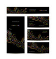 business cards design night city vector image