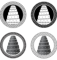 set of towers of babel vector image vector image