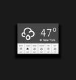 Weather widgets vector image vector image