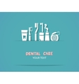 Background with dental care symbols vector image