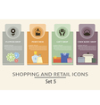 Shopping and retail labels vector image
