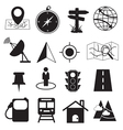 Map Destination and Location Icons Set vector image vector image