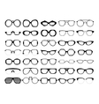 set of glasses Retro wayfarer geek vector image