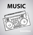 boombox drawing retro sketch vector image