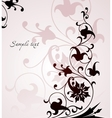Beautiful floral pink background vector image