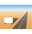 desert to the road vector image