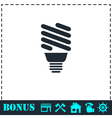 ECO energy lamp icon flat vector image