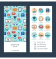 Flyer brochure for foreign language learning Set vector image