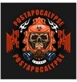 industrialpost-apocalypse coat of arms with skull vector image