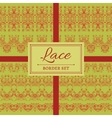 Lace abstract border set vector image