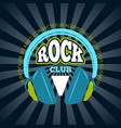 rock music club music logo badge emblem vector image