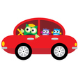 Owls Traveling By Car vector image vector image