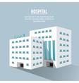 hospital building clinic design vector image