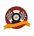 tires car emblem icon vector image