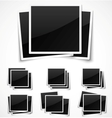 Square empty photo frames vector image vector image
