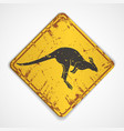 Kangaroo road sign vector image