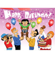 Friends and family celebration vector image vector image