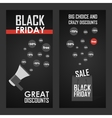 Black friday sale shining vector image