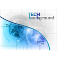 tech background in the blue vector image vector image