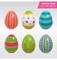 Vintage easter egg design set vector image vector image