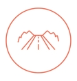 Road line icon vector image