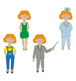 girls set of icons of different professions vector image