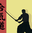Aikido the man with we throw vector image