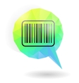 Barcode icon on message bubble vector image