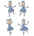 Cartoon ice skating girl vector image