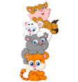 cute cats cartoon vector image