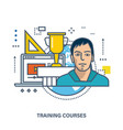 education online courses and timetable of classes vector image