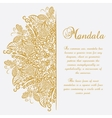 mandala White background Gold ornament vector image