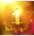 September 1st Back To School background vector image
