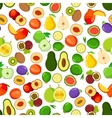 Whole and halved fruits seamless pattern vector image