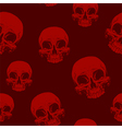 Seamless horror red skull tattoo pattern vector image