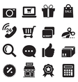 Silhouette Shopping online icons set vector image