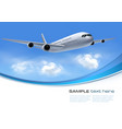 Travel background with airplane and white clouds vector image vector image