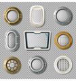 Portholes Of Various Shape Realistic Set vector image