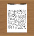 set of books sketch for your design vector image