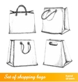 Bags for shopping set vector image