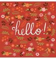 Hello card design vector image vector image