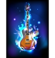 Burning guitar vector image vector image