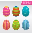 Vintage easter egg design set vector image