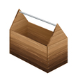 Tool box on white background Wooden tool box vector image