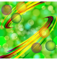 Abstract light bubbles background with bent lines vector image